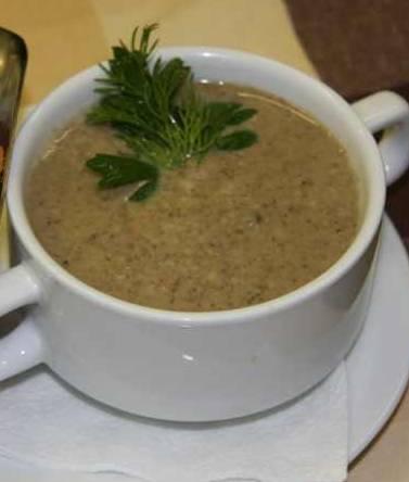крем-суп изшампиньонов