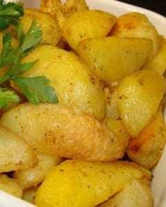 Картошка с имбирем и чесноком