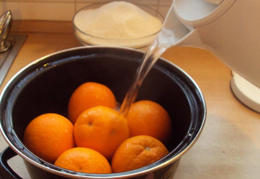 апельсины с кипятком