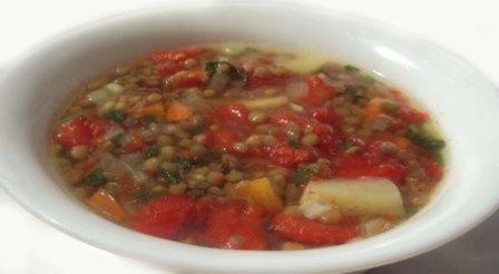 суп из чечевичы