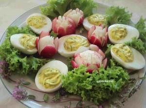 Закуска из яиц Мимоза