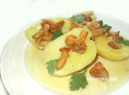 картошка с грибами рецепт