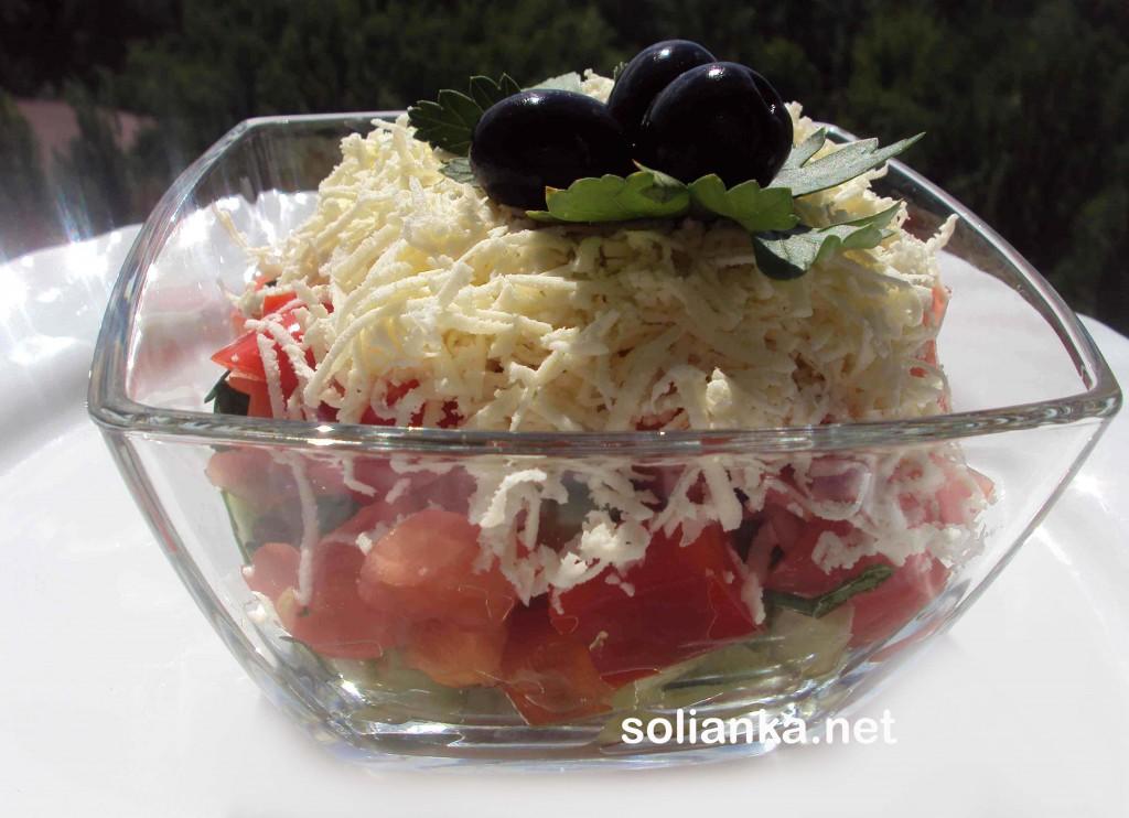 салат шопский - рецепт с фото