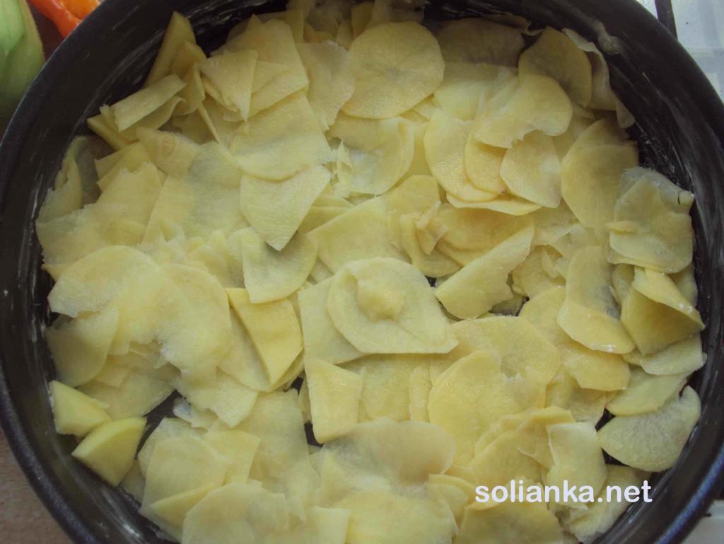 картошка кусочками