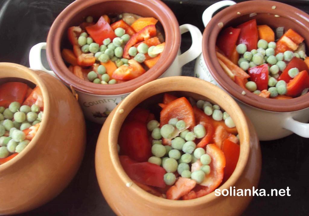 горшки с овощами