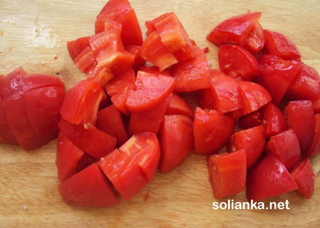 кусочки помидорки
