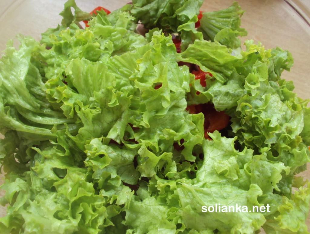 кусочки салата