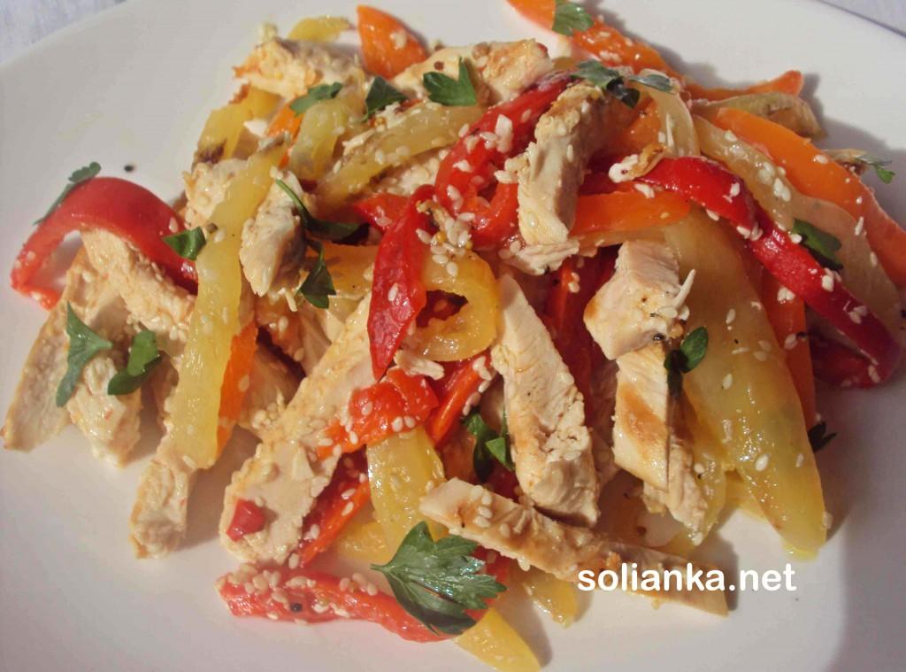салаты с куриным филе - рецепты