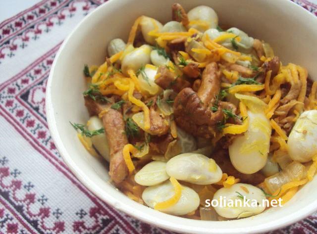 фасоль с грибами рецепт