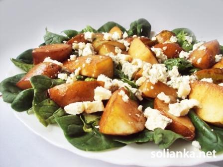 рецепт салата из шпината