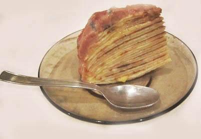 блинчатый пирог кусочек
