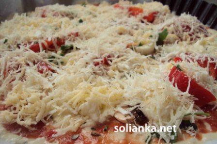 жидкое тесто на пиццу готово