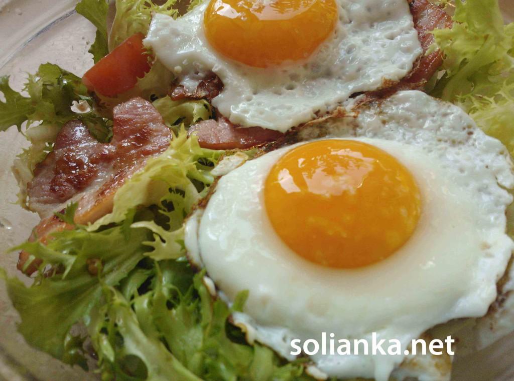 салат с беконом рецепт с фото