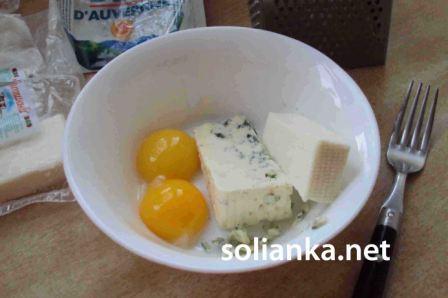 яйца с сыром для кабачков