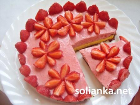 рецепт торта с клубникой