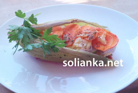 рецепт грудки с овощами