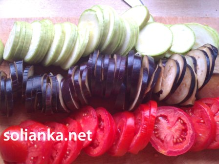 кружочки овощей для рататуй