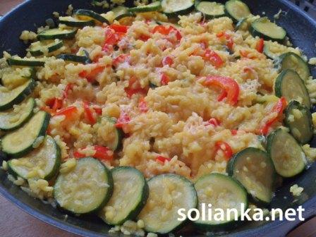 рецепт риса с кабачками