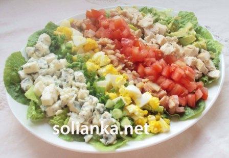 рецепт салата Кобб