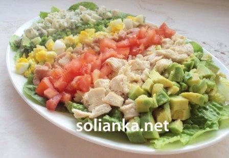 рецепт с фото салата кобб