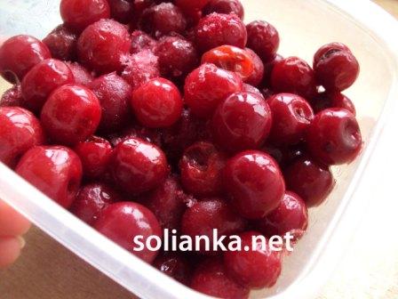 размороженные вишни