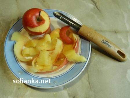 полоски из яблок