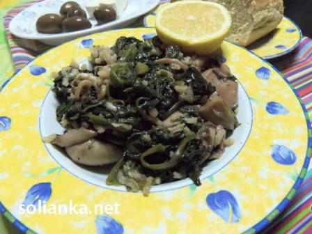 рецепт каракатица со шпинатом