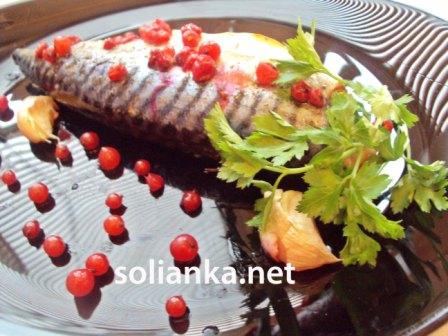 рецепт запекания скумбрии в духовке, запеченная рыба в духовке скумбрия