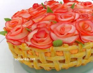 Торт «Корзина алых роз» от Эльвиры Щербаковой