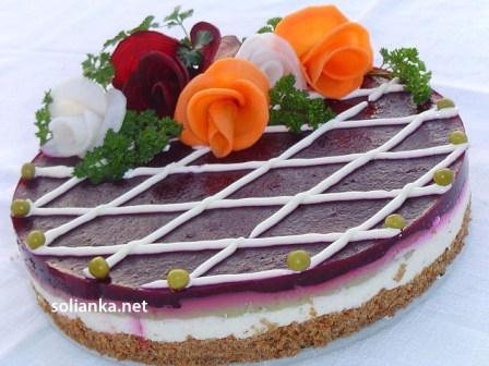 закусочный торт с фото