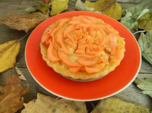 Красивые пирожные с овощами «Цветы»  от Татьяны Лазунько