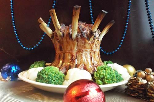 корона из свиных ребрышек в духовке