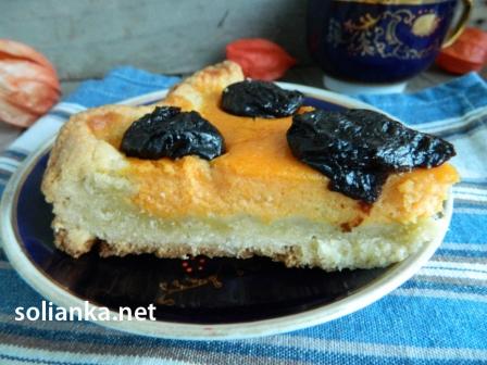 вкусный тыквенный пирог с тыквенной начинкой и черносливом