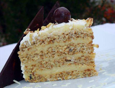 торт шоколадно ореховый