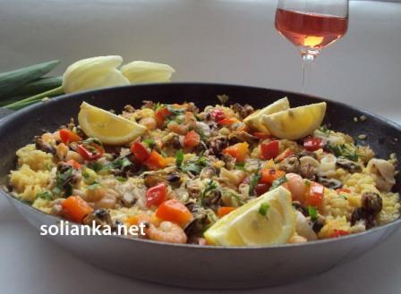 фото рецепт испанская паэлья с морепродуктами