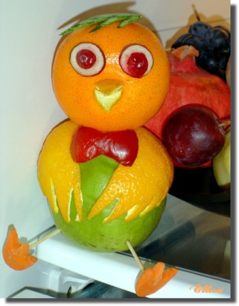 карвинг из апельсина