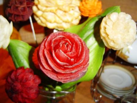 карвинг из свеклы - роза