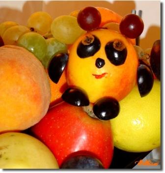 скульптуры из фруктов и овощей