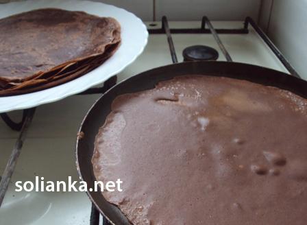 рецепт приготовления шоколадных блинов