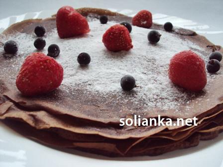 шоколадные блины - рецепт с фото