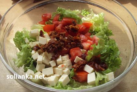 овощной салат с вялеными томатами