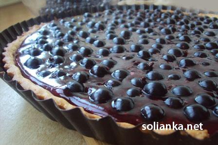 рецепт пирог с черной смородиной
