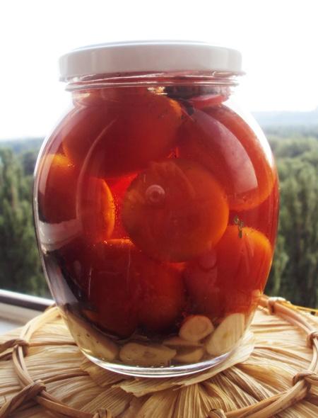 заготовка помидоров черри на зиму в масле в баночке