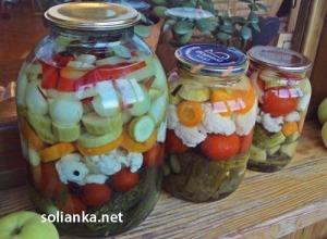 """Ассорти на зиму из овощей или рецепт """"Пикули маринованные"""""""