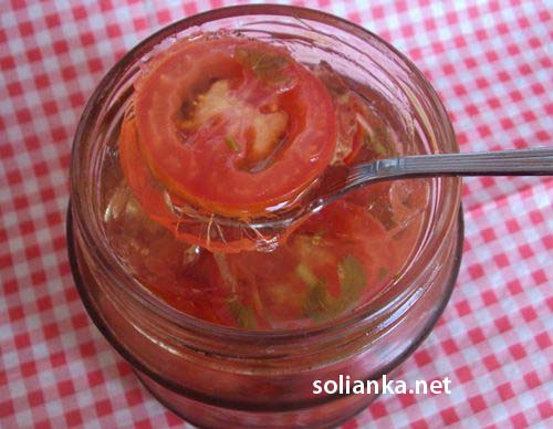 как приготовить помидоры в желе на зиму