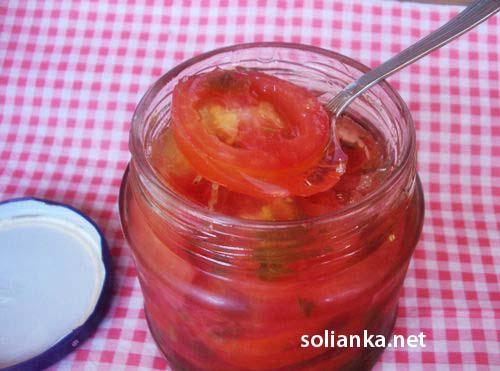 готовые помидоры в желатине на зиму