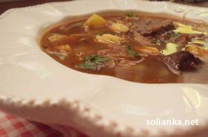 Венгерский суп гуляш с клёцками