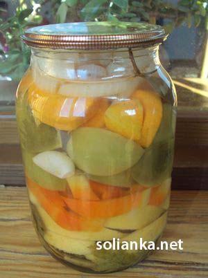 рецепт зеленых помидоров в овощном ассорти на зиму