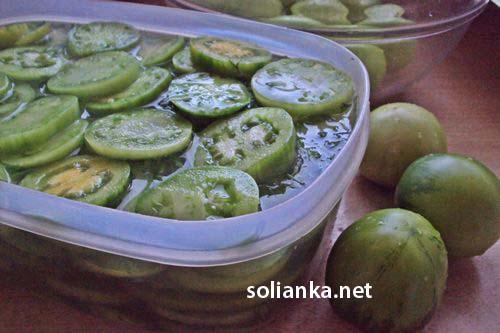 рецепт засолки зеленых помидор на зиму