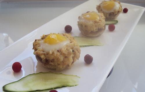 фаршированные грибы шампиньоны в духовке с курицей и сыром нарядно